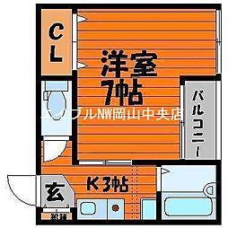 サライ西古松[1階]の間取り