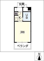 ドール神宮西[9階]の間取り
