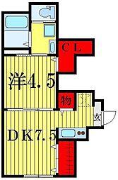 セプテーニ四つ木[1階]の間取り
