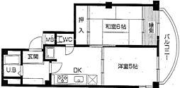 兵庫県神戸市兵庫区東山町1丁目の賃貸マンションの間取り