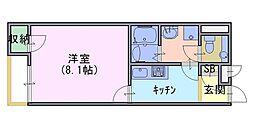 クレイノ西森本[1階]の間取り