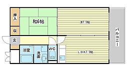 青山NKマンション[607号室]の間取り