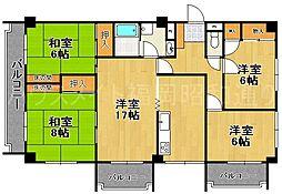 ロイヤルマンション小笹[8階]の間取り