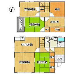 [一戸建] 広島県福山市木之庄町2丁目 の賃貸【/】の間取り
