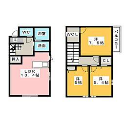 [一戸建] 三重県津市夢が丘1丁目 の賃貸【/】の間取り