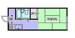 茅南荘202[2階]の間取り