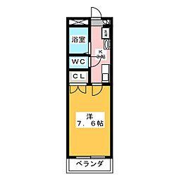 HANAMIZUKI四軒家[2階]の間取り
