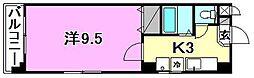 エクセレント小西[302 号室号室]の間取り