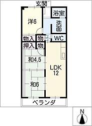 プラザ小幡602号室[6階]の間取り