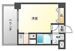 アール六本松[9階]の間取り