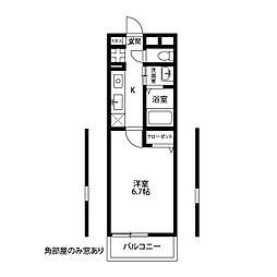 アムール 横須賀中央[105号室]の間取り