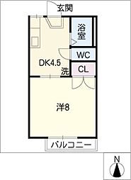 リトル リバー C棟[1階]の間取り