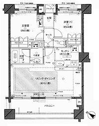 クレッセント川崎センティア[8階]の間取り