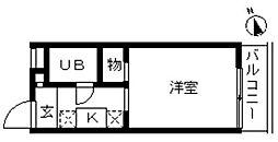 千葉県松戸市中根の賃貸マンションの間取り