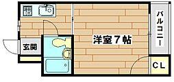 高槻ローズハイツB棟[5階]の間取り