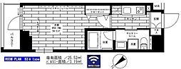 西武新宿線 鷺ノ宮駅 徒歩8分の賃貸マンション 8階1Kの間取り