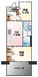 ルゼフィール武庫川第2五番街[3階]の間取り