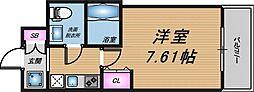 大阪府大阪市北区長柄中1丁目の賃貸マンションの間取り