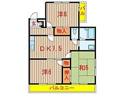 メゾンサンローザ (0026)[3階]の間取り