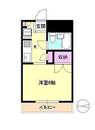 東京都八王子市元横山町3丁目の賃貸アパートの間取り