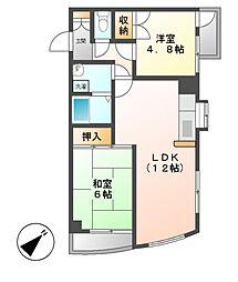 神奈川県川崎市高津区久地2丁目の賃貸マンションの間取り