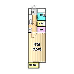 ハッピーバレー[2階]の間取り