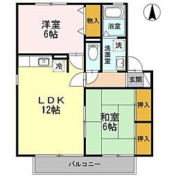 ライズ後藤 A[2階]の間取り