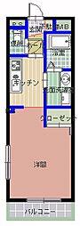 茨城県常陸太田市木崎一町の賃貸アパートの間取り