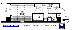 JR山手線 浜松町駅 徒歩10分の賃貸マンション 10階1Kの間取り