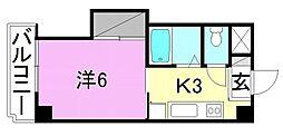 エトワール福音寺[103 号室号室]の間取り