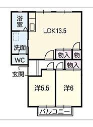 シャルムKATO C棟[1階]の間取り