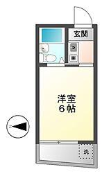 愛知県名古屋市瑞穂区本願寺町2の賃貸マンションの間取り