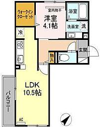 Kスタイル清水[3階]の間取り