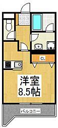 トミボナール[1階]の間取り