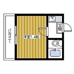 Rinon脇浜[606号室]の間取り