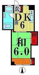 竹の塚駅前ビル[4階]の間取り