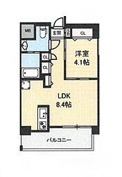 地下鉄今里駅 徒歩1分 新築マンション[7階]の間取り