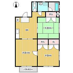 古越アパート[2階]の間取り