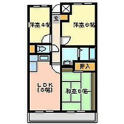 ファミールメゾン[4階]の間取り