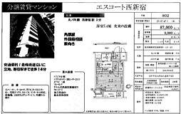 エスコート西新宿[802号室号室]の間取り