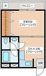 代田レジデンス[306号室]の間取り