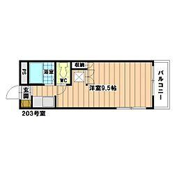 福岡県福岡市東区和白2丁目の賃貸アパートの間取り