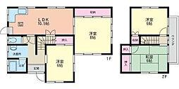 [一戸建] 神奈川県厚木市まつかげ台 の賃貸【神奈川県 / 厚木市】の間取り