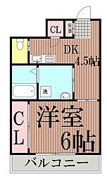 東京都品川区豊町5丁目の賃貸マンションの間取り
