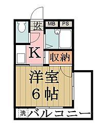 田所マンション[302号室]の間取り