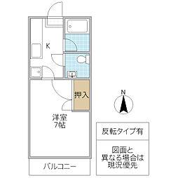 TMハイツ B棟[105号室号室]の間取り