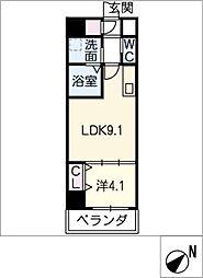 LUXETAGE大須west[2階]の間取り