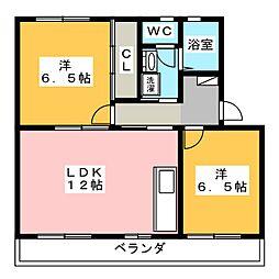 上島マンション[1階]の間取り