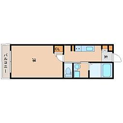 阪神本線 尼崎駅 徒歩8分の賃貸マンション 6階1Kの間取り
