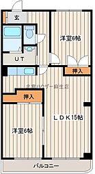 北海道札幌市東区東苗穂五条3丁目の賃貸マンションの間取り